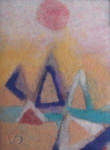 Vlněné koláže Egypt