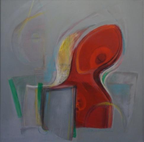Březen (akryl) / März (Acryl)